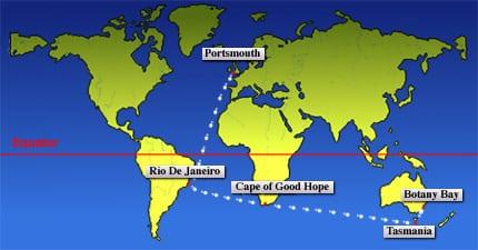 map of the first fleet