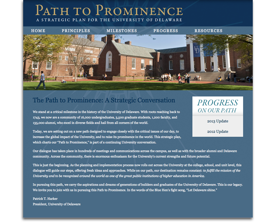 University of Delaware's Path to Prominence