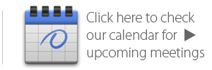 A calendar of upcoming events.