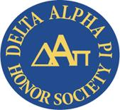 Logo for Delta Alpha Pi Honor Society