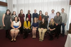 Picture of the Members of the Alpha Psi Chapter of Delta Alpha Pi Initiation Ceremony