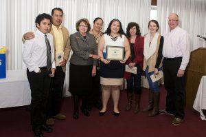 Kevin Miner Scholarship recipient Jackeline Saez-Rosario w/ her family & The Miner family
