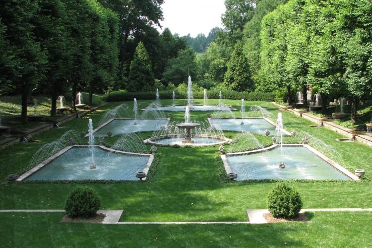 Italian Water Garden at Longwood Gardens in 2009.