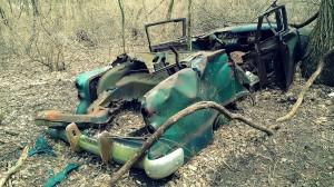 Discarded Car, the Mason Dixon Trail of WCCP, Mar. 22, 2014. By Gabriella Mangino