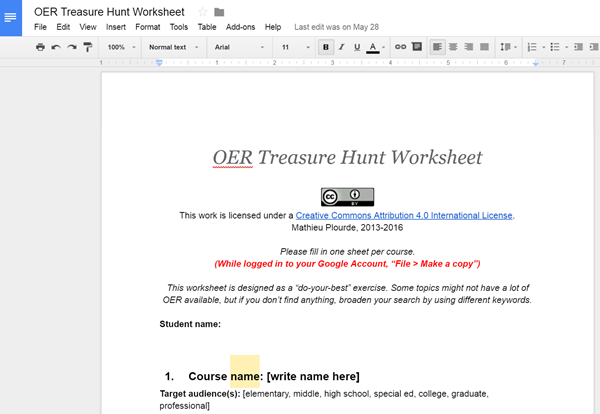 OER Treasure Hunt thumbnail