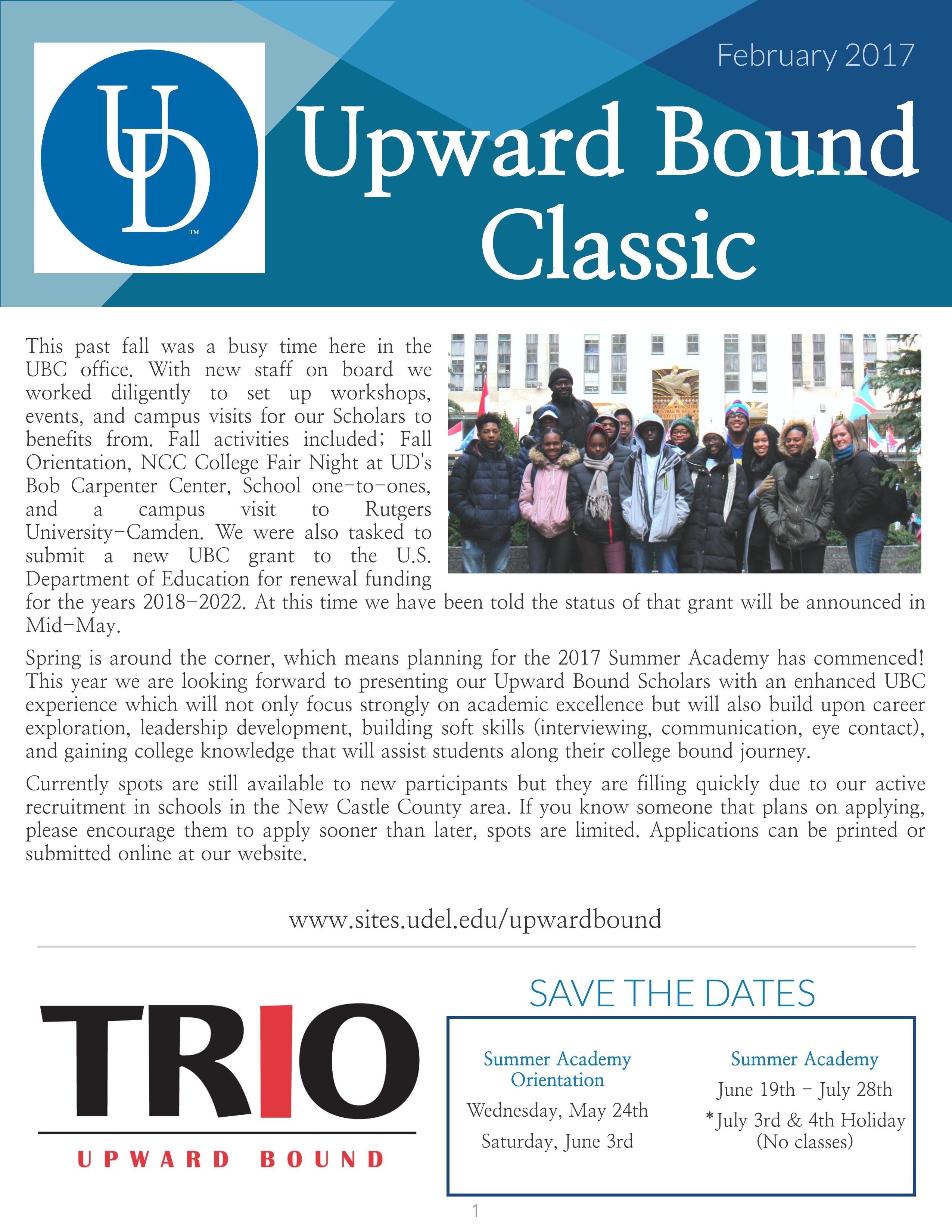 UBC Newsletter