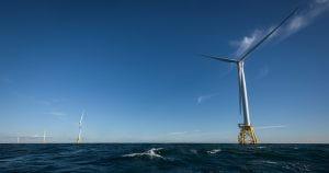 Wind turbines offshore of Block Island