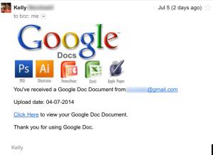 Google Doc phishing scam.