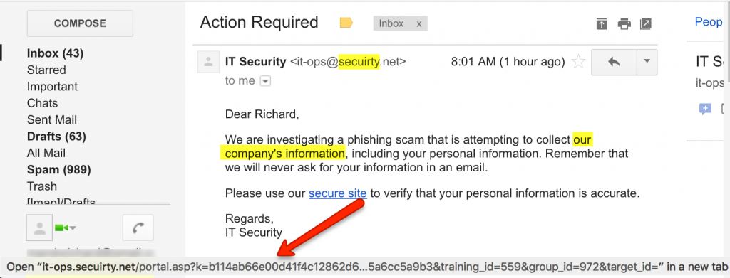 Three things reveal this email to be a suspicious message!