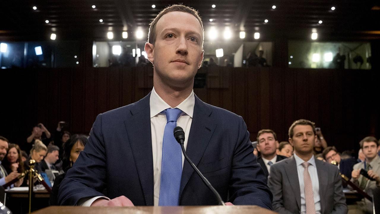 Zuckerberg appears before court, representing Facebook.