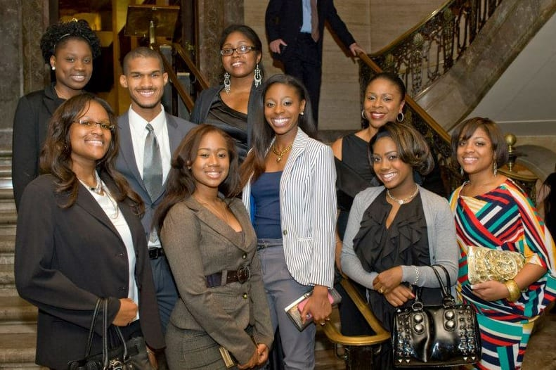 Students and Staff from Center for Black Culture at a formal event