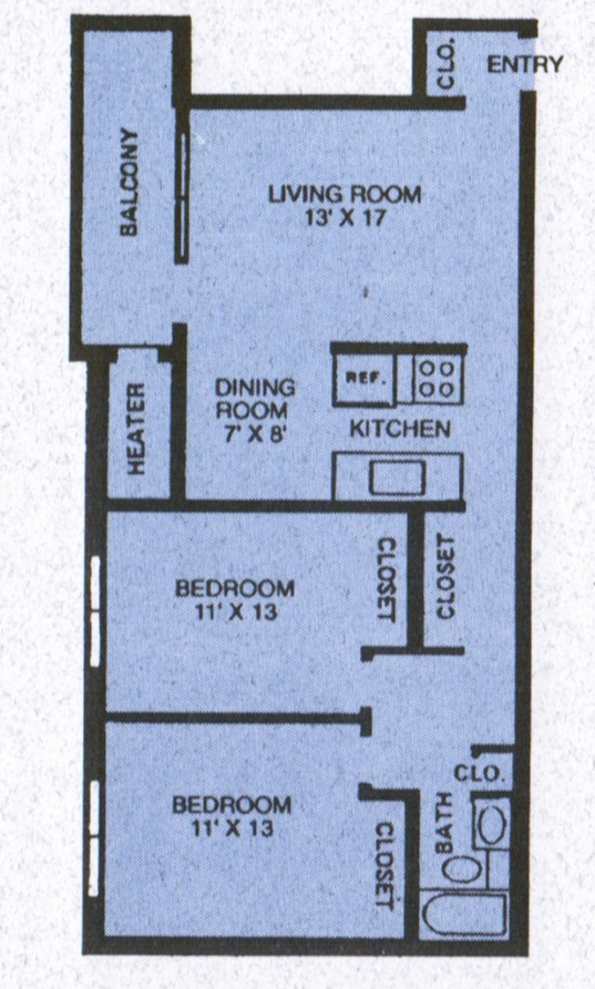 West knoll apartments english language institute - Bedroom aparment floor plans ...