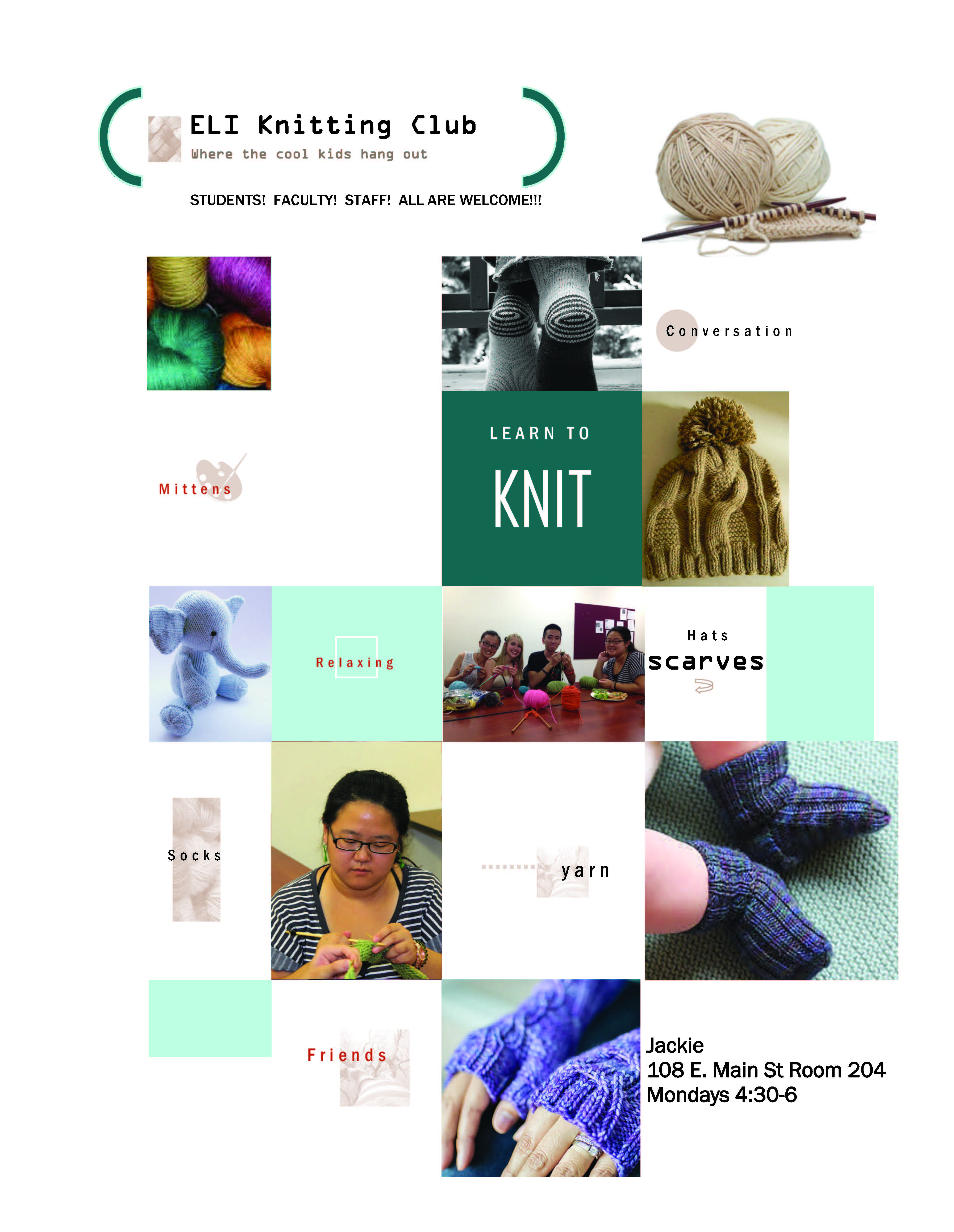 Knitting Club Book : Join the eli knitting club english language institute