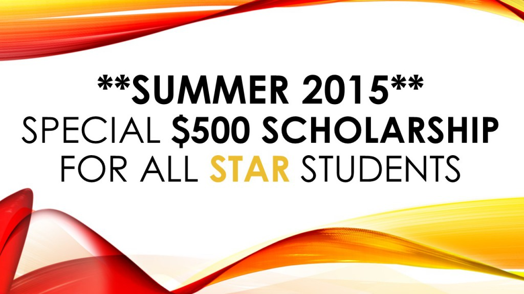 The ELI is offering a special scholarship to all students who enroll in the STAR program in Summer 2015!