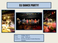 ELI Dance Party on Friday