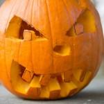 a carved pumpkin