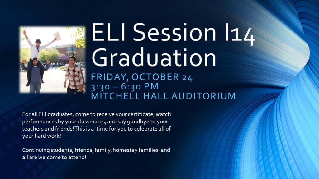 ELI Session I14 Graduation