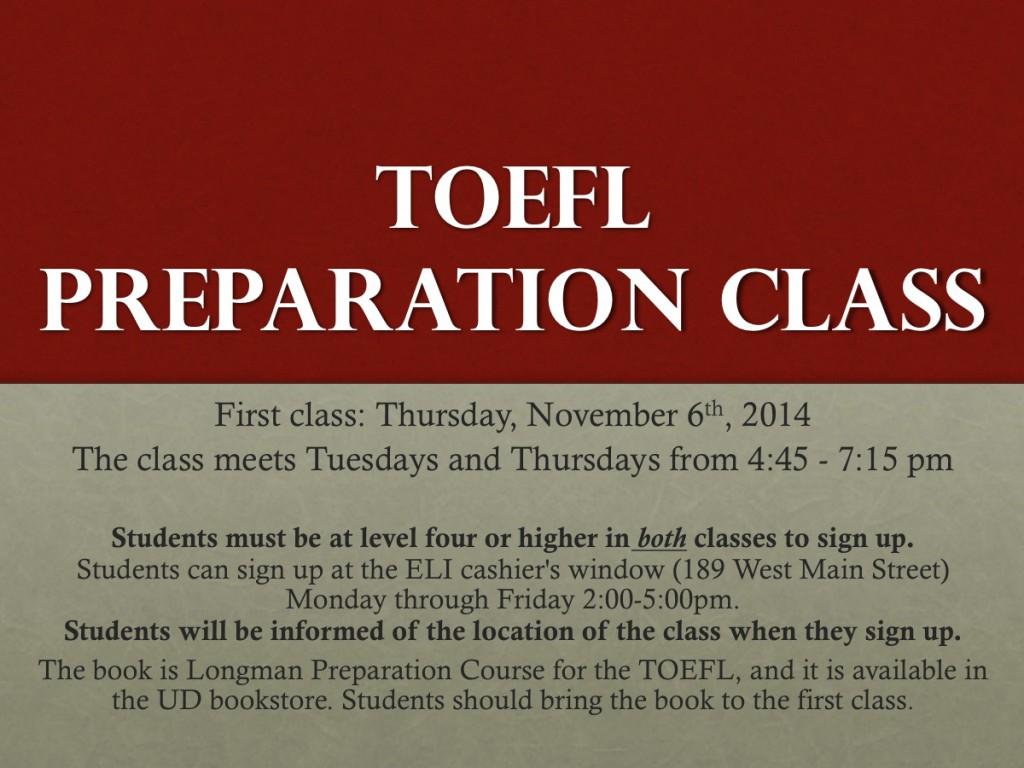 Toefl prep class II14