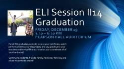 ELI Session II14 Graduation