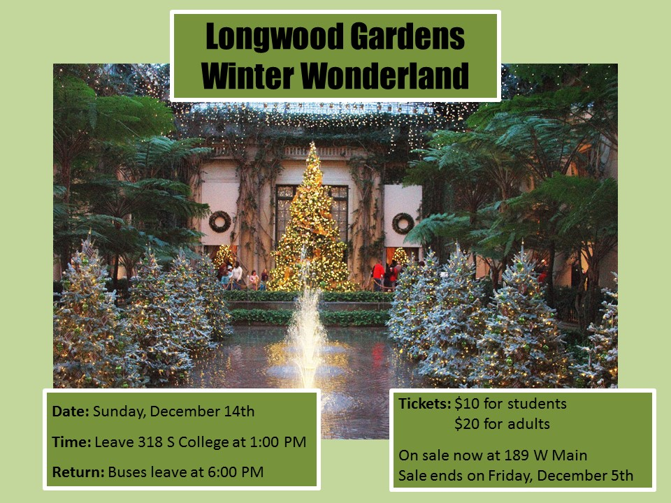 Trip to longwood gardens english language institute for Longwood gardens tickets