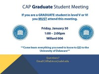CAP Graduate Meeting 1-30-15