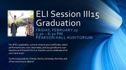 ELI Session III15 Graduation