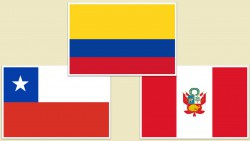 colombia peru chile flags