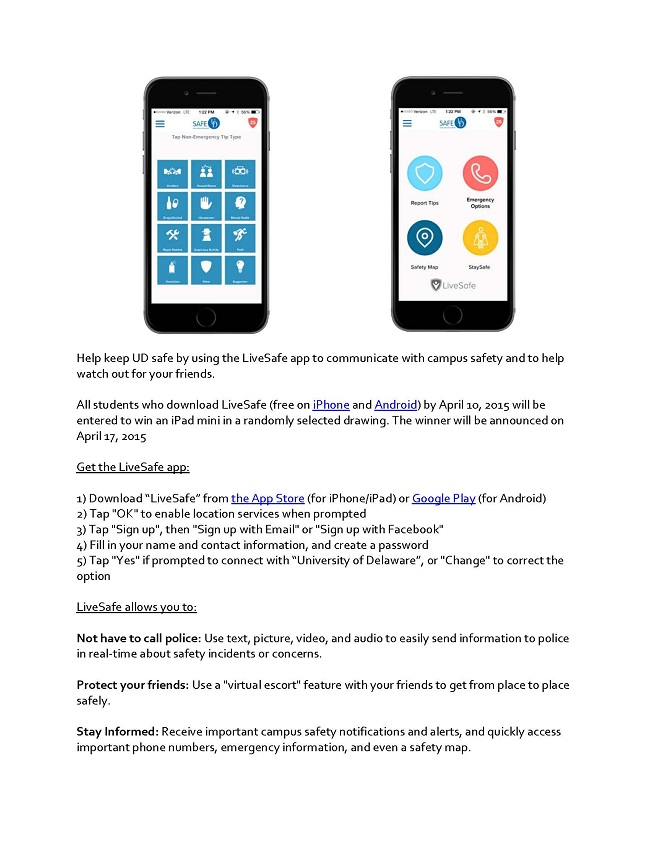Download UD's Safety App: LiveSafe   English Language Institute