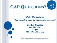 CAP Advising Session VI 15 Advertisement