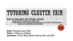 Tutoring Cluster Fair VI15