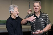 Retired professor teaches a Tai Chi class at the STAR campus specifically geared for Parkinson's patients