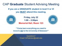 Graduate CAP Advising Meeting ad 7.22.16