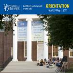 ELI Orientation April 27-May 1, 2017