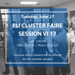 Cluster Faire Session VI 2017