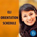 ELI Orientation Schedule