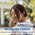 Orientation schedule - Session IV 2018