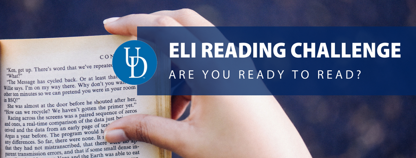 ELI Reading Challenge: Are you ready to read. Photo of a hand turning a book page by Prasanna Kumar