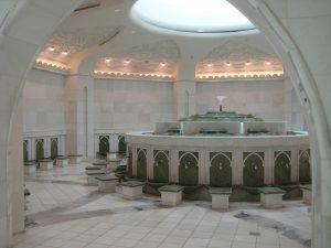 Ablution room, Shaikh Zayed Mosque, photo by Jay Tamboli from Flickr