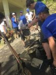 SABIC students work side-by-side with professionals at a site in Puerto Rico