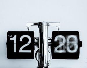 Analog clock, time flipping in time lapse. Image by Djim Loic https://unsplash.com/@loic/portfolio