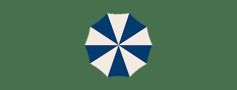 Illustration of a beach umbrella.