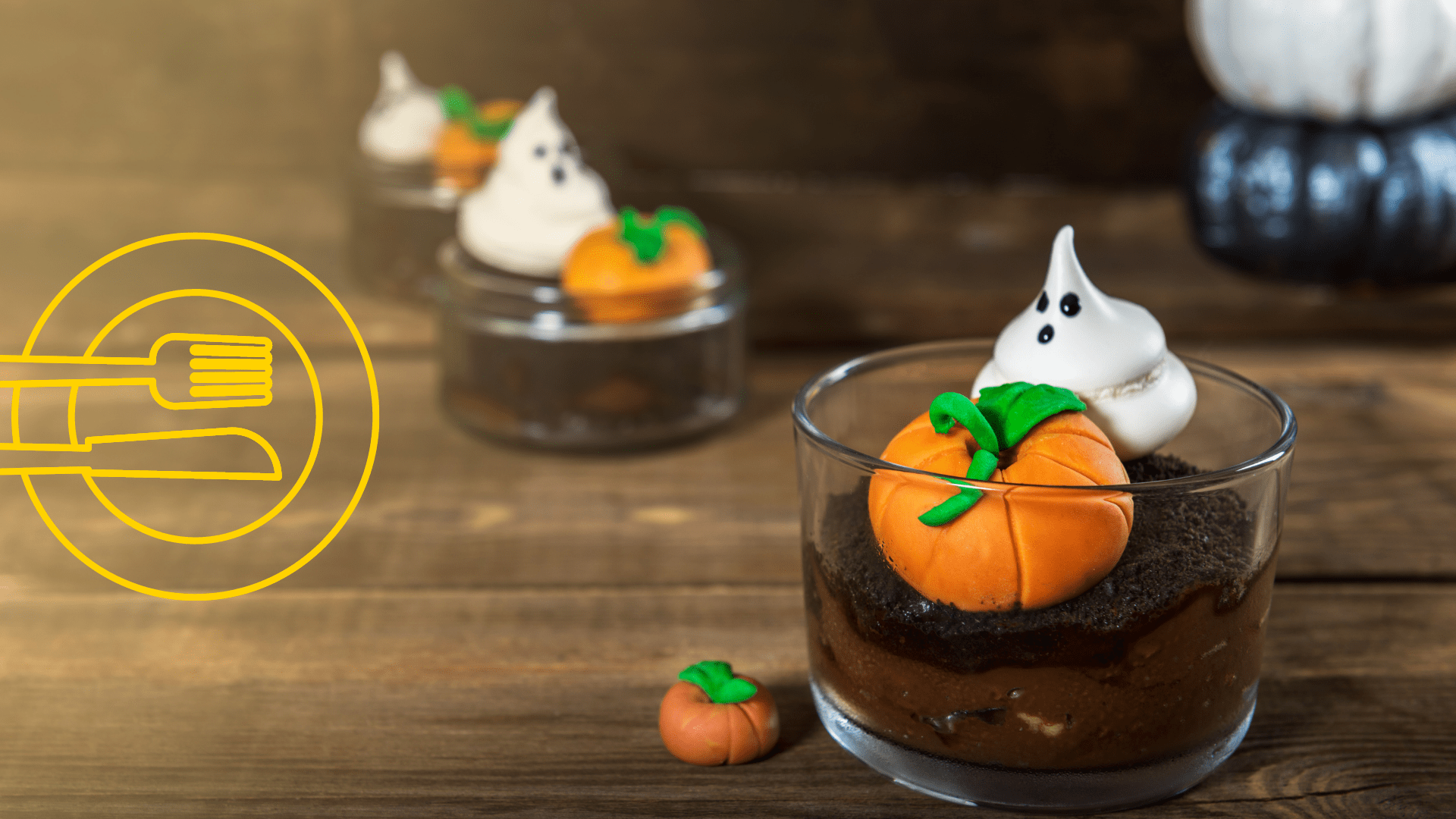 dirt pudding with meringue ghosts