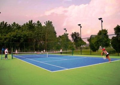 Tennis courts at UNNC