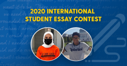 2020 International Student Essay Contest winners, Norah and Essa