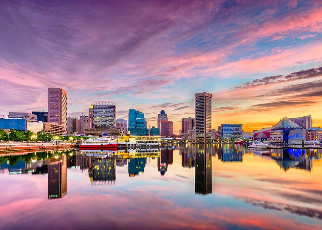 Baltimore Harbor at sunrise