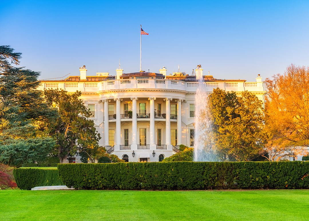 White House at golden hour
