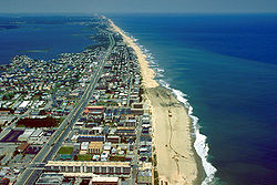 Looking at Ocean City from the sky