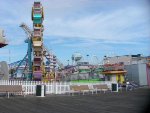 A view of the rides on the Pier in Ocean City
