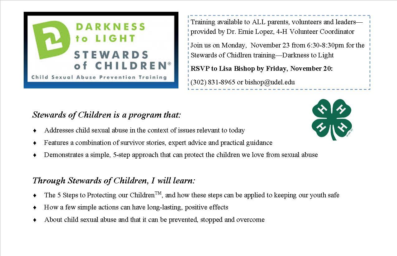 Stewards of Children postcard
