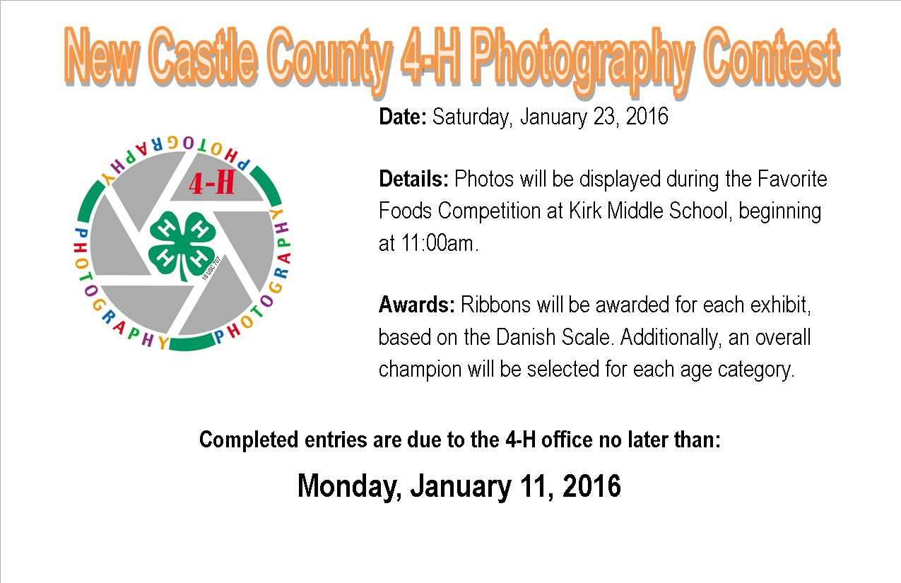 2016 Photography Contest Flyer